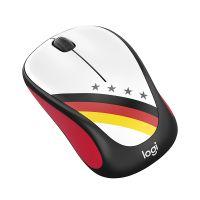 *罗技(Logitech)球迷典藏系列无线鼠标-德国M238(黑红色)