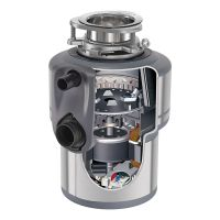 【双十一提前享好礼】产地美国 进口爱适易(ISE)食物垃圾处理器 E200 可接洗碗机(银色)
