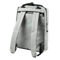 乐上(LEXON)15.6英寸双肩笔记本电脑包双隔层出差旅行包休闲书包LNR1614G06C(灰色)