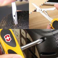 产地瑞士 进口维氏(VICTORINOX)德莱蒙瑞士军刀 2.4913.SC8 (黄黑色)