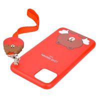 产地韩国 Line Friends 带挂绳布朗熊手机壳适用于iPhone 11 Pro Max【特价商品,非质量问题不退不换,售完即止】【清仓折扣】