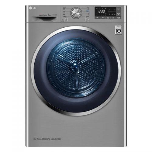 产地韩国 进口LG 9公斤 双变频热泵干衣机 RC90U2EV2W(碳晶银)