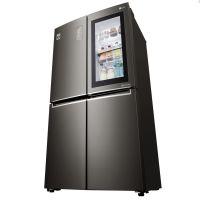 产地韩国 进口LG 671升变频二级能效进口十字对开门冰箱 F678SB75B(钻石黑)