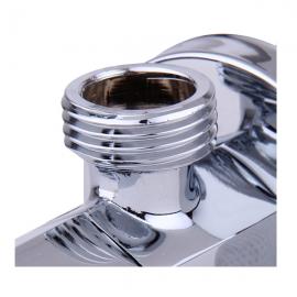 绿太阳 (GreenSun)4分口全铜镀铬冷热水 八字角阀 陶瓷片角阀4062