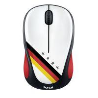 罗技(Logitech)球迷典藏系列无线鼠标-德国M238(黑红色)