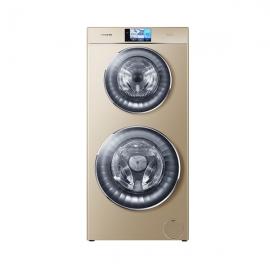 *卡萨帝(Casarte)12公斤 双子云裳双筒洗 带烘干 滚筒洗衣机 C8HU12G1(香槟金)