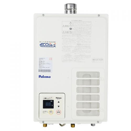 产地日本 进口百乐满(Paloma) 16升强排式燃气热水器 JSQ32-PH-163IEFS(白色/二件套)