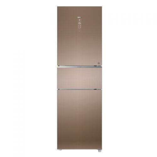 海尔(Haier)251升 风冷无霜 变频三门冰箱 BCD-251WDGUU1(卡其金)