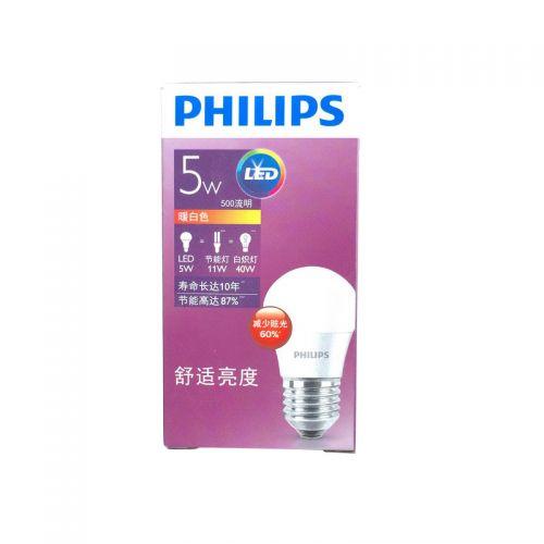 飞利浦(Philips ) LED小球泡 5W E27  (黄光)