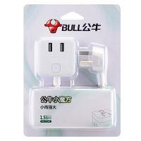 公牛(BULL) 1.5米线小魔方2插孔带 GN-UUB122(白色)
