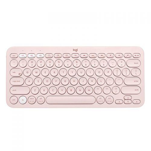 罗技(Logitech)无线蓝牙键盘家用办公键盘K380(粉色)