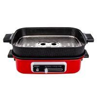 西屋(Westinghouse)4.5L 多功能锅料理烹饪锅  电烧烤锅 WSC-1423 (红色)