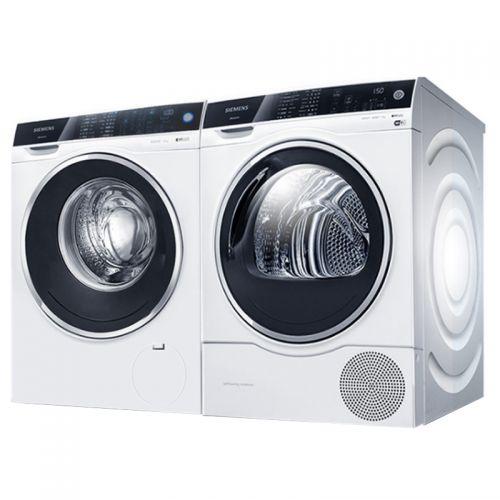 西门子(SIEMENS)10KG 洗衣机 WM14U560HW + 9KG 进口干衣机 WT47U6H00W 套装(白色)