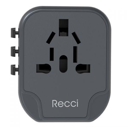 锐思(RECCI)全球通手机旅行充电器RCG-N03(黑色)