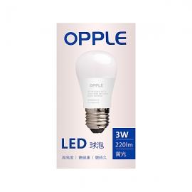 欧普(OPPLE)3W心悦大头暖光LED球泡