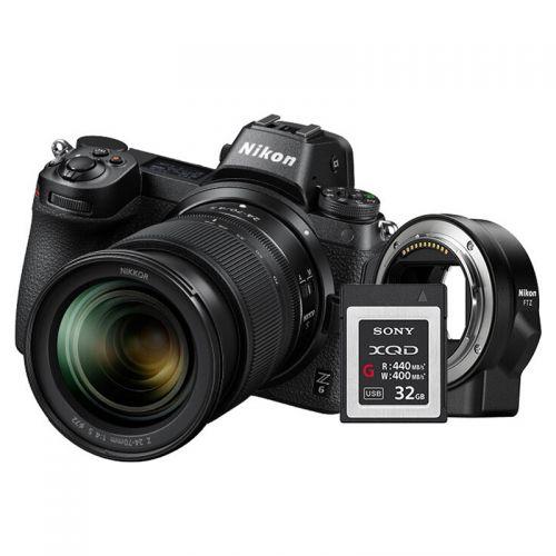 尼康(Nikon)Z6全画幅微单套机24-70+FTZ+XQD32G(黑色)
