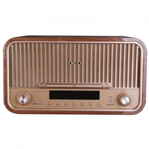 丽扬(neon)复古组合音响 USB播放 蓝牙播放 CD播放MCB820