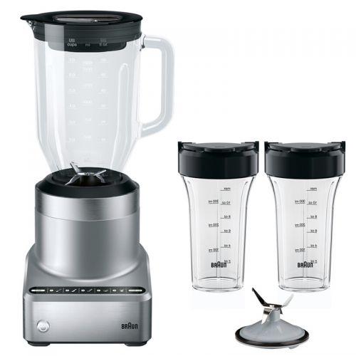 博朗(Braun)多功能破壁料理机JB7192家用多功能全自动高速榨汁料理机(银色)