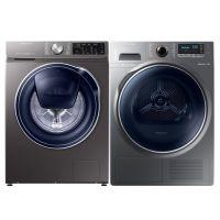 三星(SAMSUNG)9KG 洗干衣机套装 WW90M64FOPX/SC + DV90M8204AX/SC