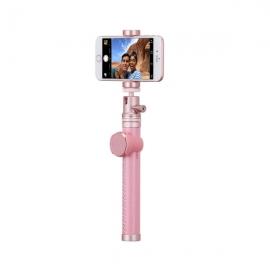 **摩米士(Momax)Selfie Pro蓝牙智拍器自拍杆(玫瑰金色)