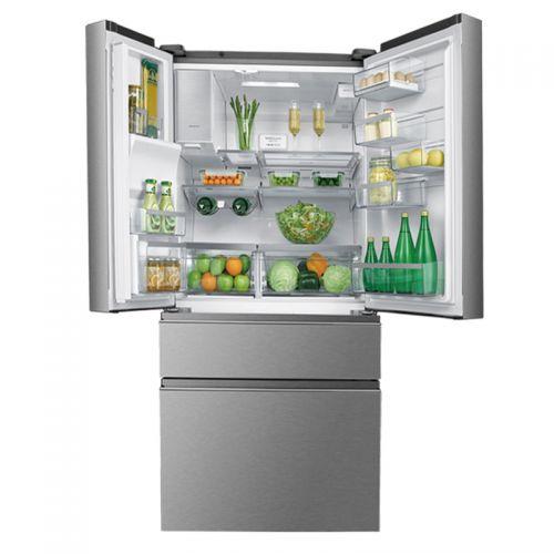 产地泰国 进口AEG 590升 风冷无霜法式四门冰箱 带自动制冰 AHE6879AA(银灰色)