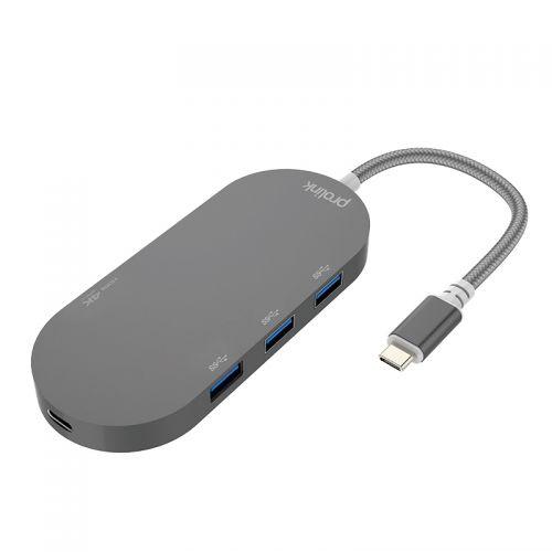 普罗林克(Prolink)五合一USBC金属转换器MP461GR-P01-BOX(灰色)