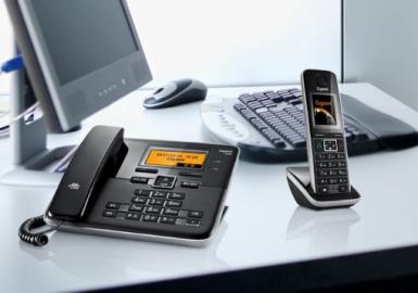 集怡嘉(Gigaset)原西门子品牌C810无绳电话机子机中文输入一拖一子母机(钢琴黑)