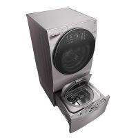 产地韩国 进口LG 14公斤 双擎分类洗 带烘干滚筒洗衣机 WDRH657C7HW(碳晶银)