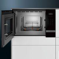 西门子(SIEMENS)25L大容量微波烧烤二合一嵌入式微波炉 BE555LMS0W(黑色)