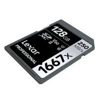 雷克沙(Lexar)128GB 高速SD存储卡U3 V60内存卡读250MB/s 写90MB/s(黑色)
