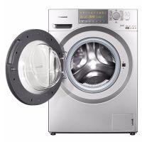 松下(Panasonic)9公斤 带烘干滚筒洗衣机XQG90-EG92T(银色)