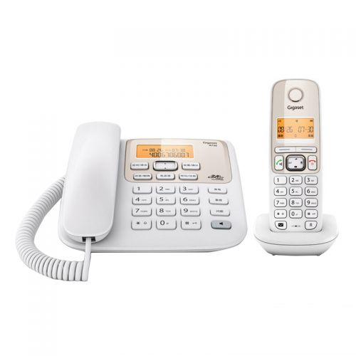 集怡嘉 (Gigast) A730 无绳电话机 1拖1 无线电话 (珍珠白)