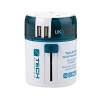 蓝旅(Travel blue)魔方世界万用带USB转换插座(欧洲)270