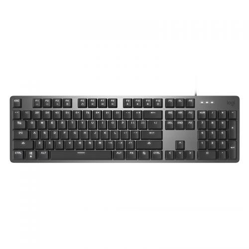 罗技(Logitech)有线机械背光键盘全尺寸办公键盘TTC红轴K845(黑色)